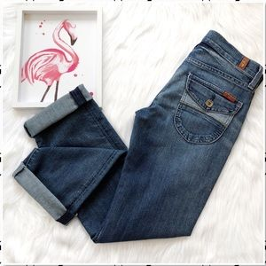 7 For All Mankind Straight Leg Flap Pocket Jean 25